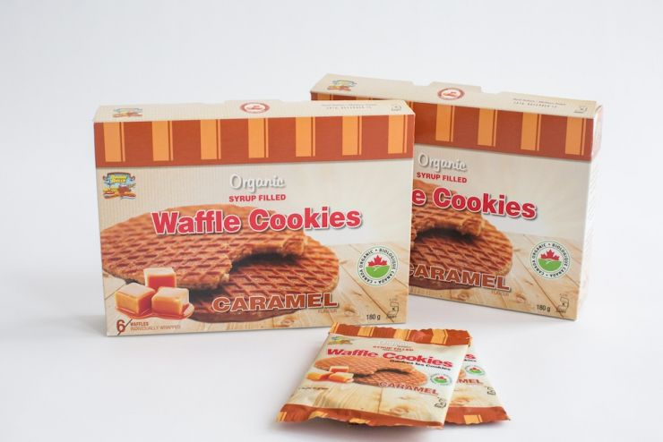Double Dutch Organic Caramel Flavoured Syrup Waffles Stroopwafels